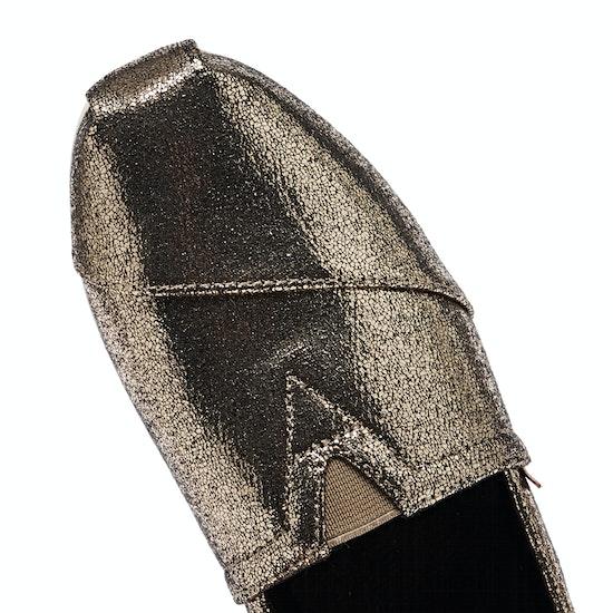 Toms Gold Crackle Shimmer Damen Espadrilles