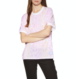T-Shirt à Manche Courte Femme Adidas Nora Faces - White/multicolour