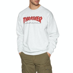 Sweat Thrasher Outlined Crew - Ash Grey