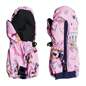 Guantes de esquí Girls Roxy Snows Up Mitt - Prism Pink Snow Trip
