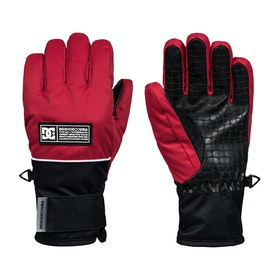 DC Franchise Boys Snow Gloves - Racing Red