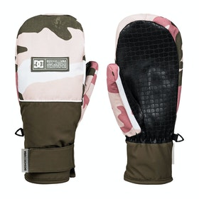 DC Franchise Womens Snow Gloves - Dusty Rose Vintage Camo