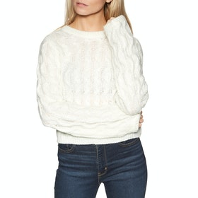 Knits Mujer Volcom Knits Up To U Sweater - Star White