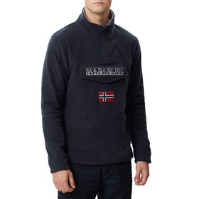 Napapijri Ted Half Zip , Fleece - Navy Blue Marine