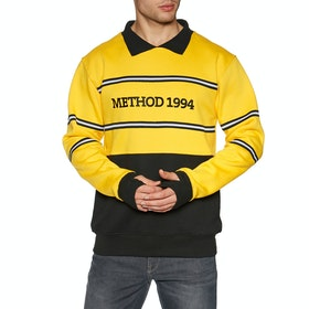 Sweat Method Collared Crew - Yellow Black