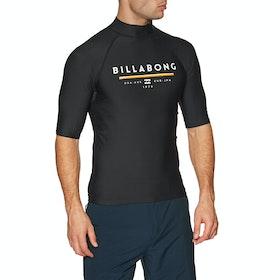 Billabong Unity Short Sleeve Rash Vest - Black