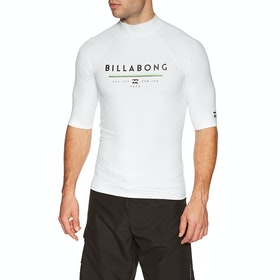 Billabong Unity Short Sleeve Rash Vest - White