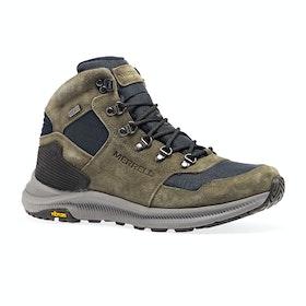 Merrell Ontario 85 Mid Waterproof Walking Boots - Olive