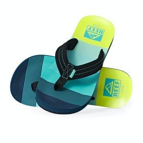 Reef Ahi Kids Sandals - Aqua Green