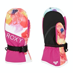 Guantes de esquí Girls Roxy Rx Jetty Mitt - Bright White Sunshine Flowers