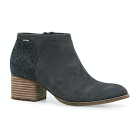 Toms Loren Womens Boots - Forged Iron Suede Felt