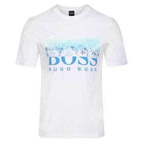 BOSS Trek 4 Short Sleeve T-Shirt - White New York