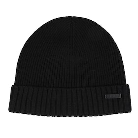 BOSS Ribbed Beanie - Black