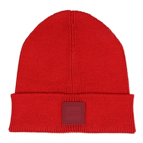 BOSS Foxx Knitted Men's Beanie - Bright Red