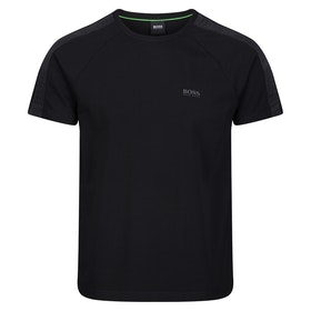BOSS Logo Tape Short Sleeve T-Shirt - Black