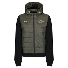 Hackett Aston Martin Racing Quilted Front Jacket - Khaki Black