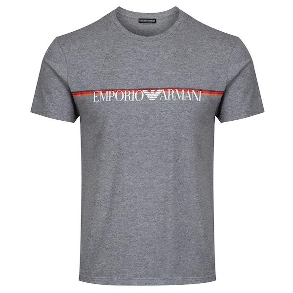 Emporio Armani Stretchy Knit Cotton Short Sleeve T-Shirt