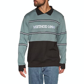 Sweat Method Collared Crew - Grey Black
