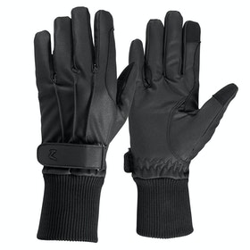 Horze PU Fleece Lined Gloves - Black