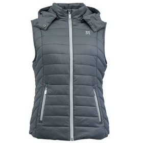 Mark Todd Padded Winter Damen Thermoweste - Grey Silver