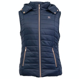 Mark Todd Padded Winter Ladies Gilet - Navy Rose