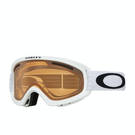 Oakley O Frame 2.0 Pro XS Snow Goggles - Matte White ~ Persimmon & Dark Grey