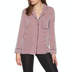 Superdry Weekender Luxe Shirt Womens Pyjamas - Red Stripe