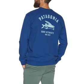 Sweat Patagonia Surf Activists Uprisal Crew - Superior Blue