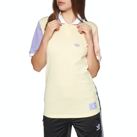 Chemise Polo Femme Adidas Nora Short Sleeve - Mist Sun Glow Pink Light Purple Night Marine