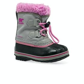 Sorel Childrens Yoot Pac Nylon Kids Boots - Chrome Grey, Or