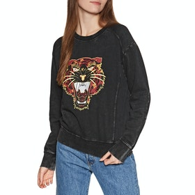 RVCA Mended Pullover Womens Sweater - Washed Black