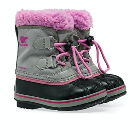 Sorel Childrens Yoot Pac Nylon Kinder Stiefel - Chrome Grey, Or