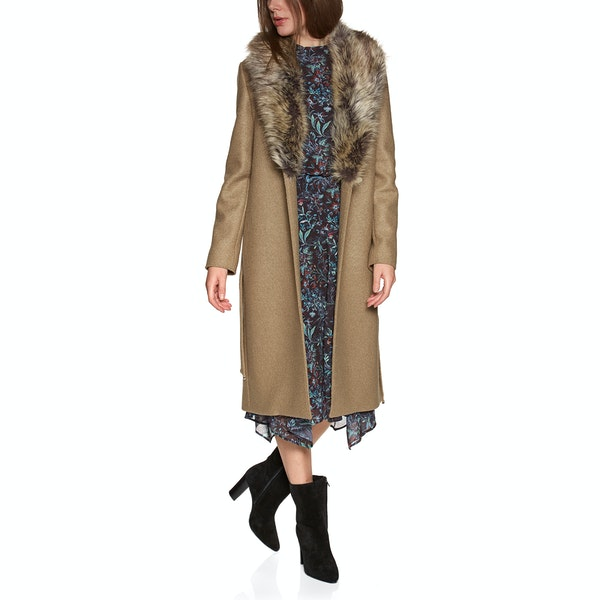 Ted Baker Corinna Faux Fur Collar Wrap Women's Jacket