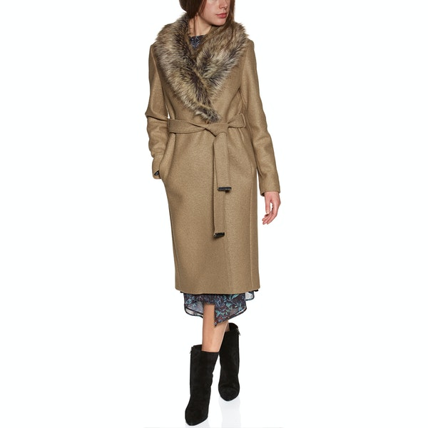 Giacca Donna Ted Baker Corinna Faux Fur Collar Wrap