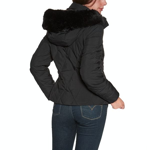 Ted Baker Erikaa Short Faux Fur Hood Down Women's Down Jacket