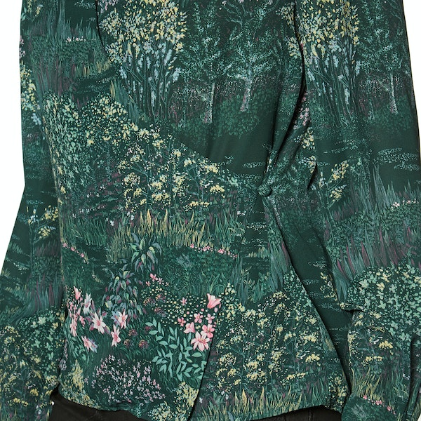 Maglietta Donna Ted Baker Thessie Diamond Pintuck Wrap Blouse