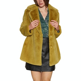 Ted Baker Zenna Bright Faux Fur Womens Bunda - Yellow