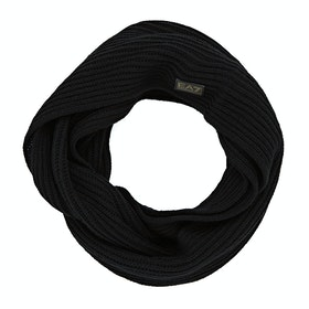 EA7 Mountain Knit Scarf - Nero