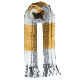 Dents Reversable Metallic Women's Scarf - Ochre