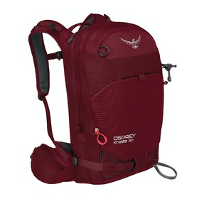 Osprey Kresta 20 Womens Snow Backpack - Rosewood Red