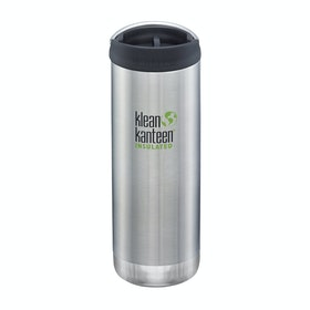 Klean Kanteen Tk Wide Vacuum Insulated 473ml (w/café Cap) Flask - Brushed Stainless