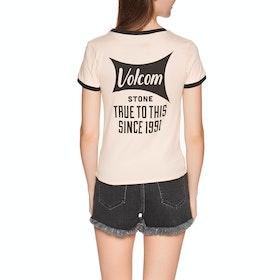 Volcom Go Faster Ringer , Kortermet t-skjorte Kvinner - Light Peach