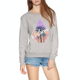 Volcom Sound Check Fleece Womens Sweater - Heather Grey