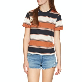 Volcom Chromatic Womens Short Sleeve T-Shirt - Burnt Orange