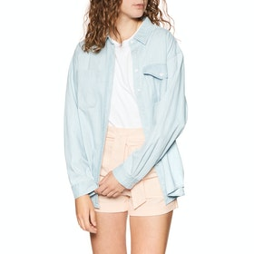 Volcom Sunday Strut Womens Shirt - Sun Faded Indigo
