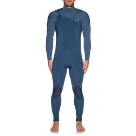 Quiksilver 4/3mm Highline Ltd Chest Zip Wetsuit - Iodine Blue / Cascade Blue