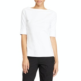 Top Donna Lauren Ralph Lauren Judy Elbow Sleeve - White