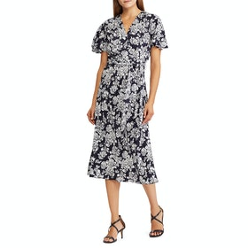 Платье Lauren Ralph Lauren Bly SS Casual - Lauren Navy/pale Cream