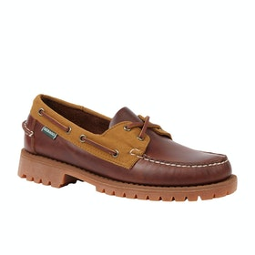 Sebago Ranger Lug Millerain Slip On Trainers - Brown Ocra