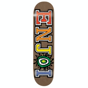 Enjoi What's The Deal R7 8.375 Inch Skateboard Deck - Brown